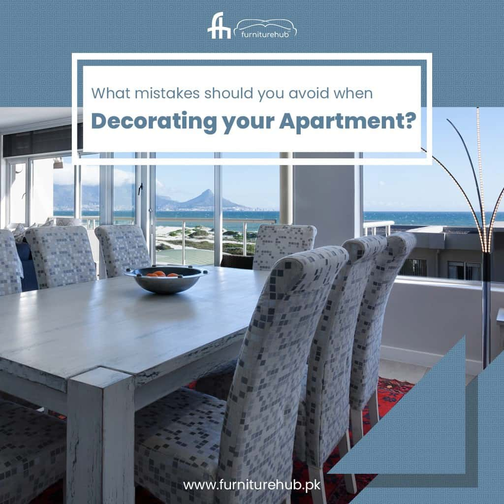 What mistakes should you avoid when decorating your apartment?