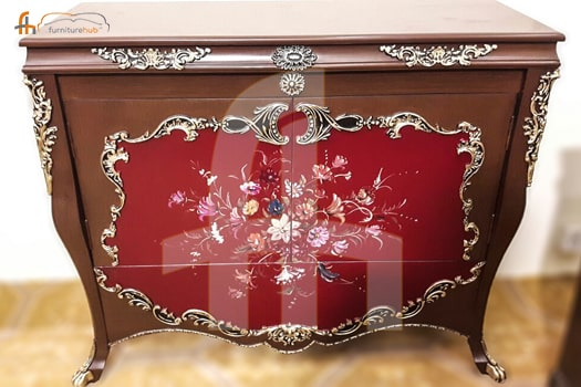 FH-5808 Chester Table with Floral Patterns