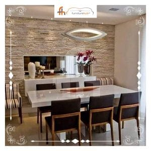 Dining Room Table And Chairs Modern Style Available At Furniturehub.Pk