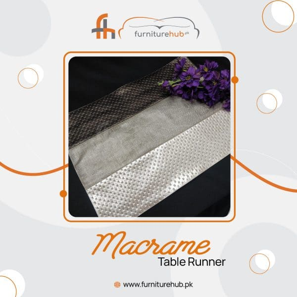 Macrame Table Runner With Mats Available On Sale At Furniturehub.Pk