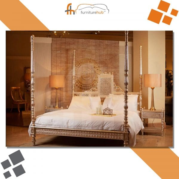 King Size Bed With Pencil Posters For Gorgeous Bedrooms On Sale