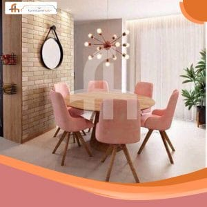 Round Dining Table And Chairs Avaialble On Sale At Furniturehub.Pk