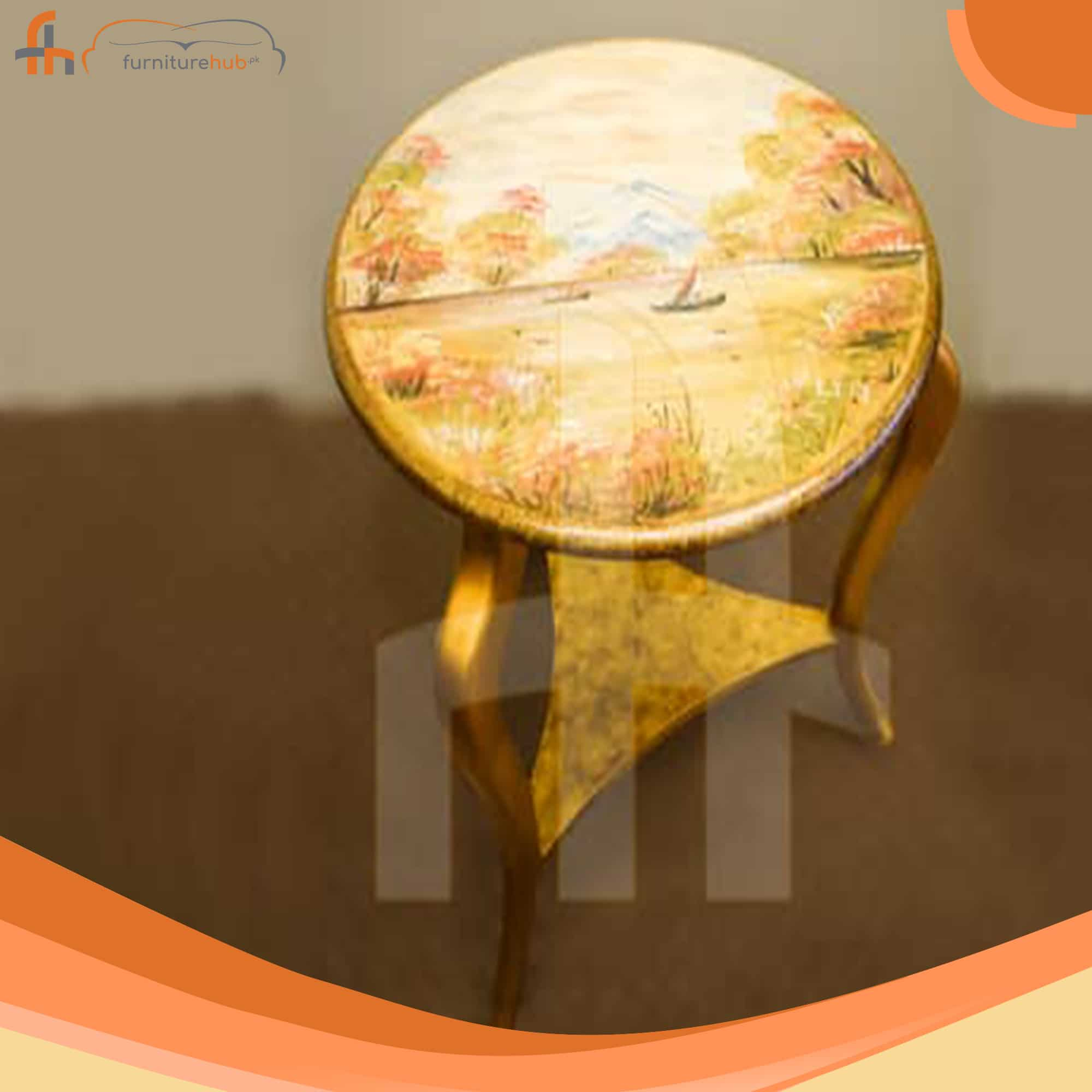 Round Wooden Center Table (FH-5788)
