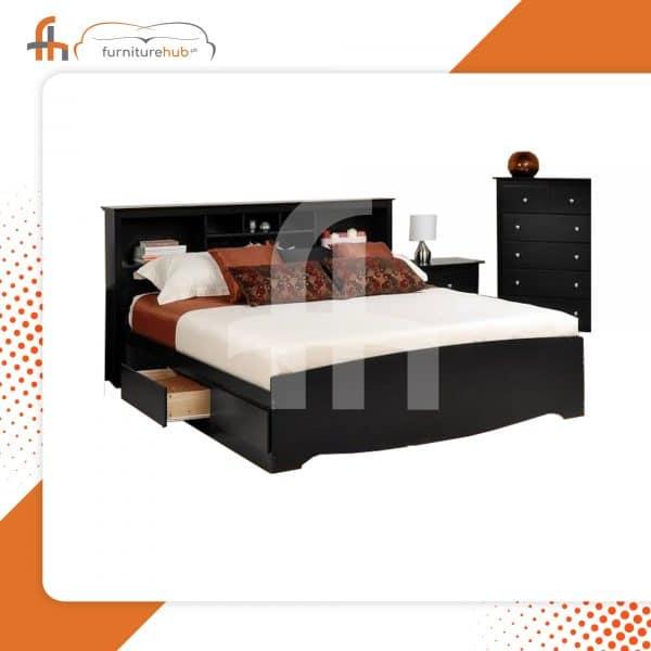 Stylish Bed Design In Sheesham Wood On Sale At Furniturehub.Pk