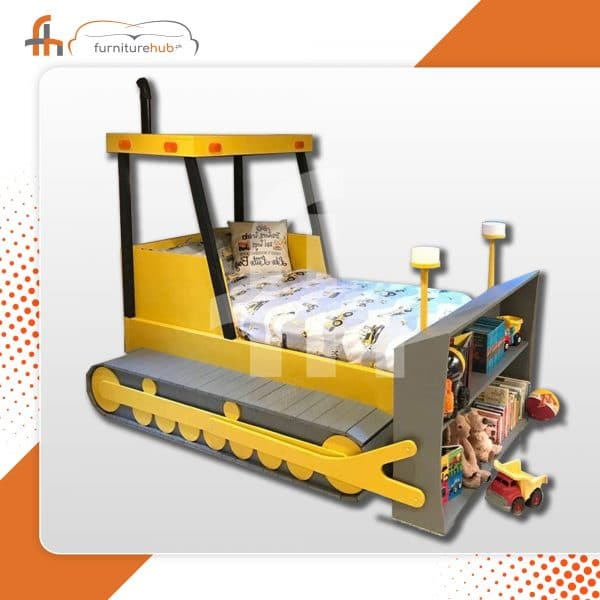 Train Twin Bed In Yellow And Gray Avaialble At Furniturehub.Pk