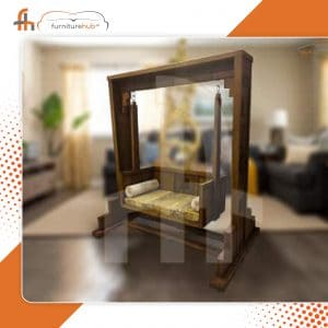 Wooden Swing With Exclusive Seat Available On Sale At Furniturehub.Pk