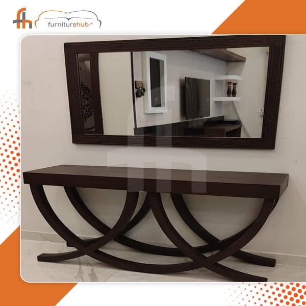 Console With Mirror In Geometrical Shape Available On Sale