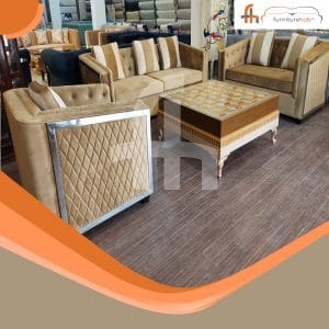 3 Seater Sofa Set Available In Brown Color In Affordable Price