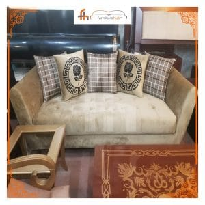Light Brown Velvet Sofa To Glam Up Your Home Available On Sale