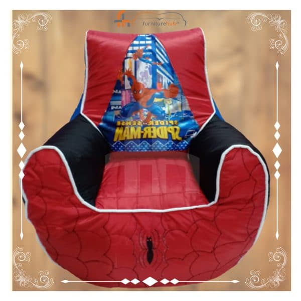 Bean Bag For Kids Spiderman Picture On Sale At Furniturehub.Pk