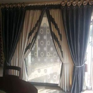 Black Curtain Design Made To Marvel Your Home At Furniturehub.Pk