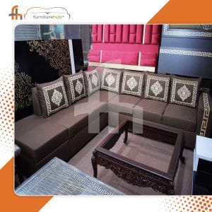 Sofa 7 Seater With Printed Cushions Available On Sale At Furniturehub.Pk