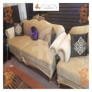 Simple Sofa Set Available On Sale With Elegant Printed Cushion