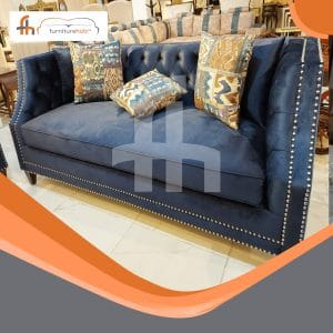 Curving Sofa In Blue Available In Blue Color On Sale At Furniturehub.Pk