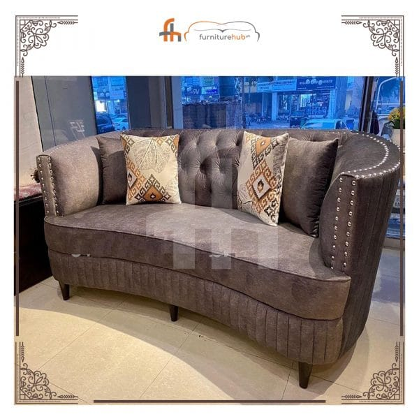 Round Arm Sofa For Enhancing Home Impressions Available On Sale