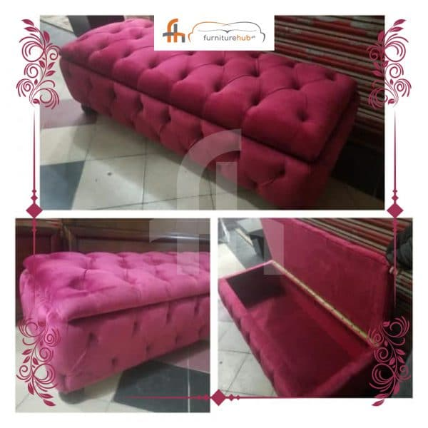 Settee For Storage In Velvet Fabric Available On Sale At Furniturehub.Pk