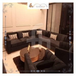 Brown L-Shape Sofa To Enhance The Grace Of Your Living Room