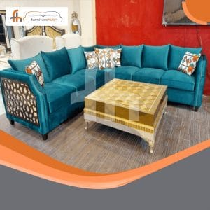 Sectional Sofa Set In Green Available On Sale At Furniturehub.Pk