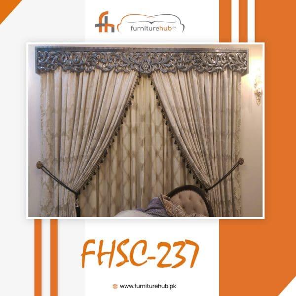 Latest Curtain Design Swooning In Luxury Avaialble At Furniturehub.Pk