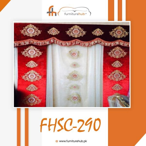 House Parda Design In Cherry Red Color Swooning In Elegance On Sale