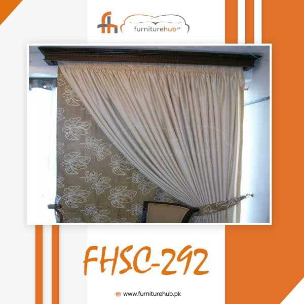 Curtain Design For Home With Printed Panel Available At Furniturehub.Pk
