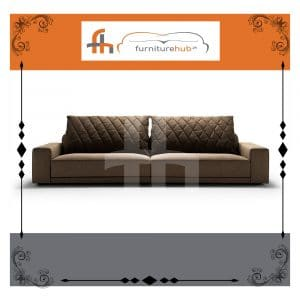 2 Seater Sofa In Dark Brown Available On Sale At Furniturehub.Pk