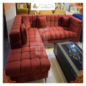 Sofa Sectional With Various Velvet Hues Available On Sale At Furniturehub