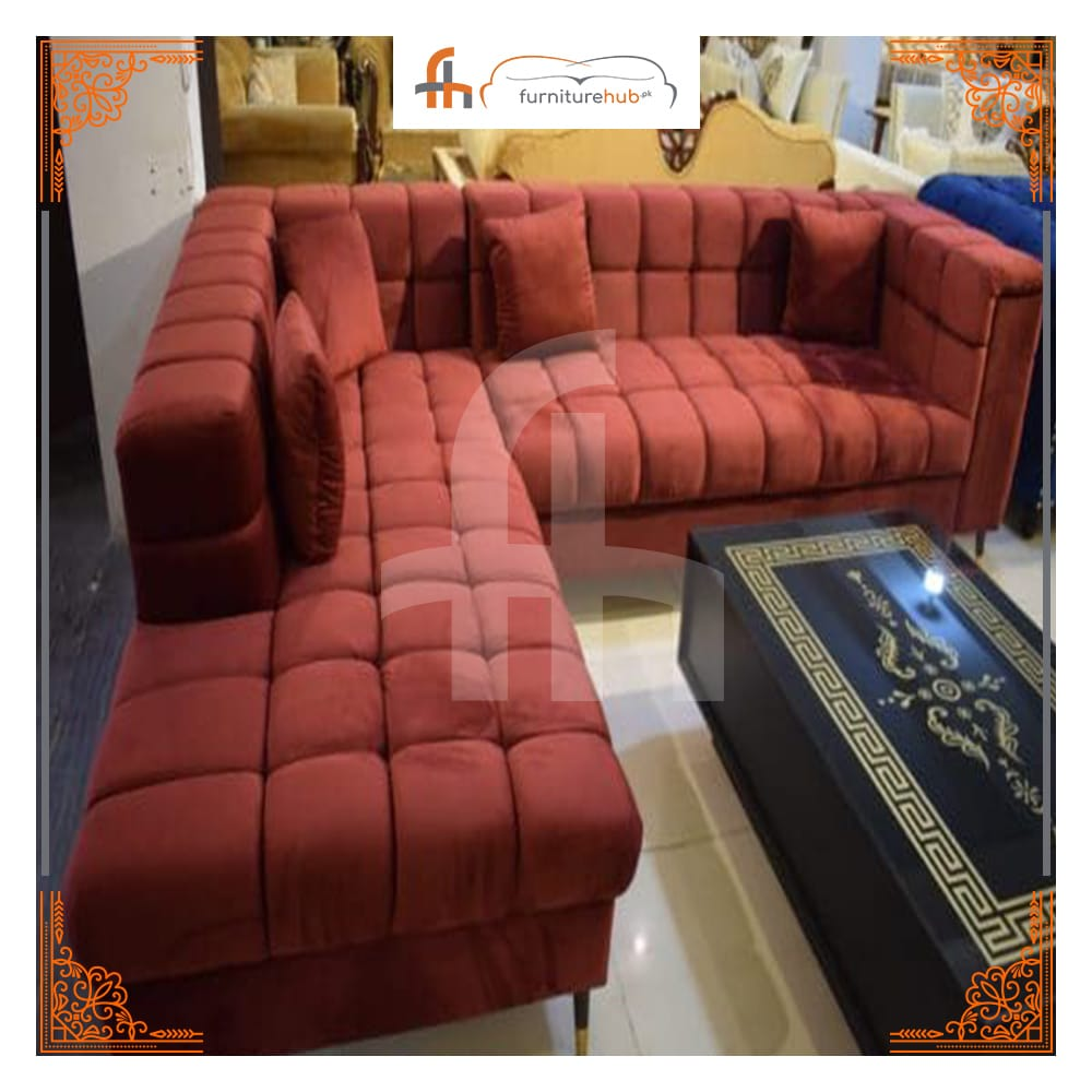 Sofa Sectional With Velvet Hues (FH-1597)