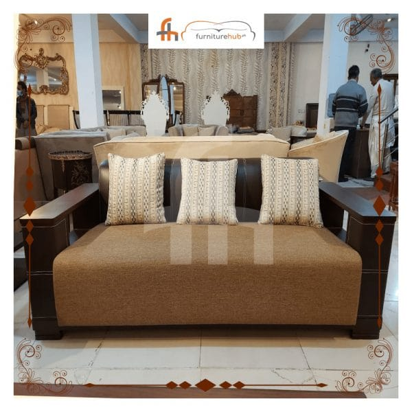 3 Piece Sofa Set With Fine Wood Available On Sale At Furniturehub.Pk