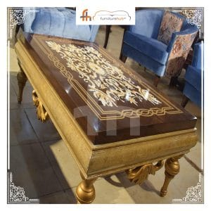 Center Table For Sale With The WoodWork Art Available At Furniturehub