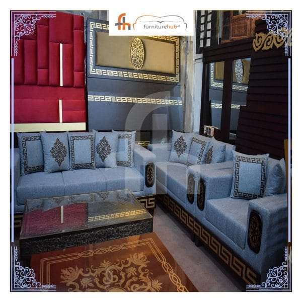 Best Living Room Sofa Set In Blue Available On Sale At Furniturehub.Pk