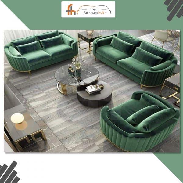 Green Color Sofa Set Ravishing Design Available On Sale At Furniturehub