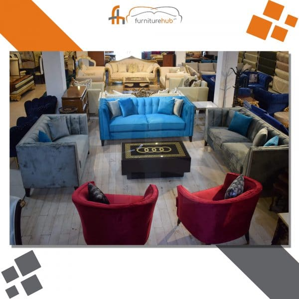 Hotel Lobby Sofa Set Available In Multicolors On Sale At Furniturehub.Pk
