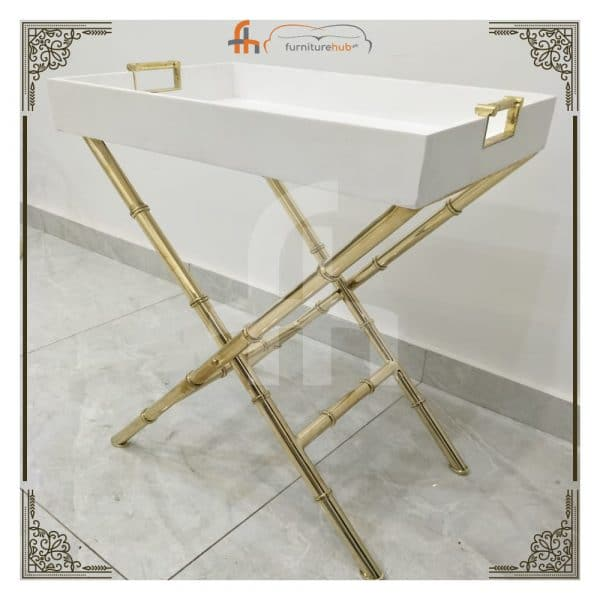 Foldable Tray Table In White Serene Combination Available On Sale