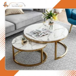 White Gloss Nest Of Tables Available On Sale At furniturehub.Pk