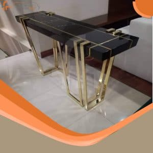 Modern Brass Coffee Table In Black Color Available At Furniturehub.Pk