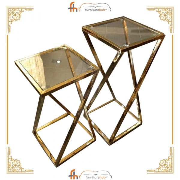 Glass Table Geometrical Design Available On Sale At Furniturehub.Pk