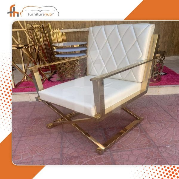 Brass Lounge Chair Available On Discounted Price At Furniturehub.Pk