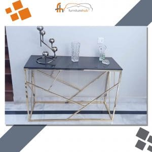 Black Metal Console Table For The Entrance Available At Furniturehub.Pk
