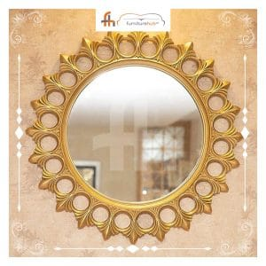 Round Mirror Design Antique Style Available At Furniturehub.Pk