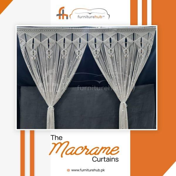 Vintage Macrame Curtains Kite Fall Design Available On Sale