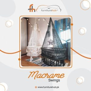 Garden Swings For Adults In Macrame Available On Sale At Furniturehub