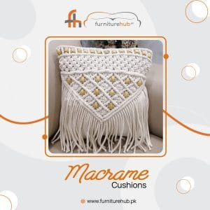Chair And Sofa Cushion In Macrame Available On sale At Furniturehub.Pk