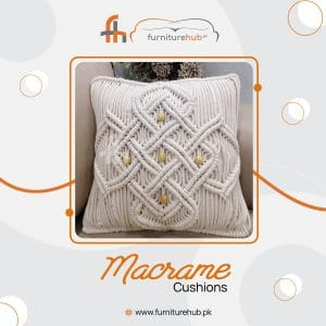 Throw Cushions Available On Sale In White Color At Furniturehub.Pk
